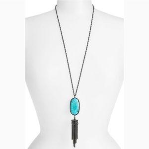Gunmetal & Turquoise Rayne Necklace